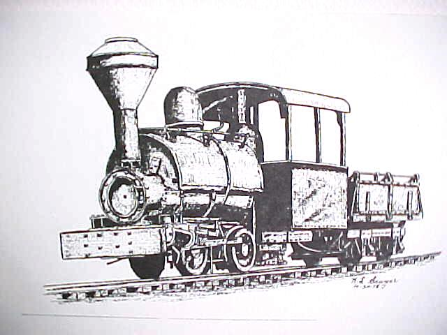 Line Drawing Train : India ink line drawings trains